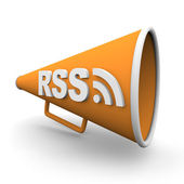 RSS Logo on Bullhorn — Stock Photo