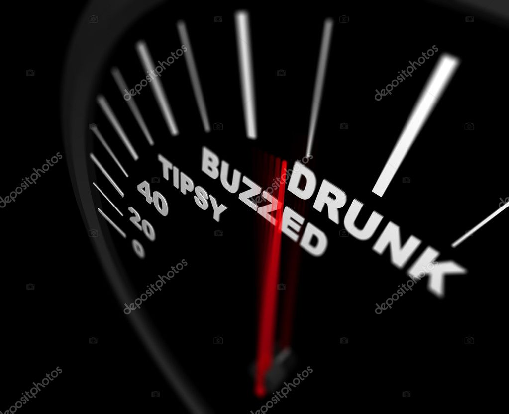 A speedometer measuring how drunk the driver is — Stock Photo #2075904
