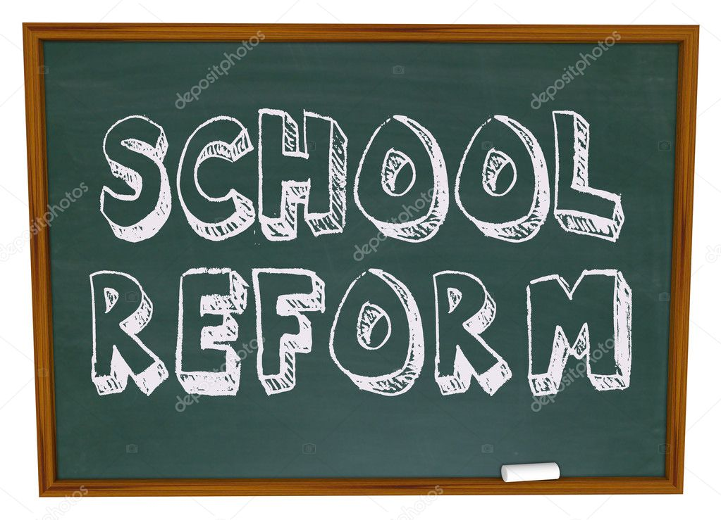 The words School Reform written on a chalkboard — Stock Photo #2076004