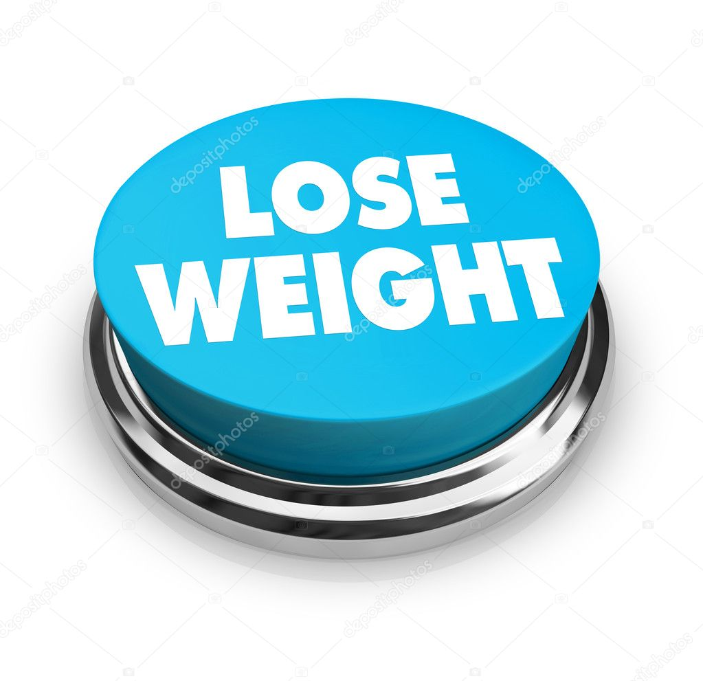 A red button with the words Lose Weight on it  Stock Photo #2076263