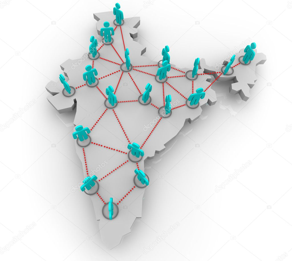 A social network of in the country of India — Stock Photo #2076924