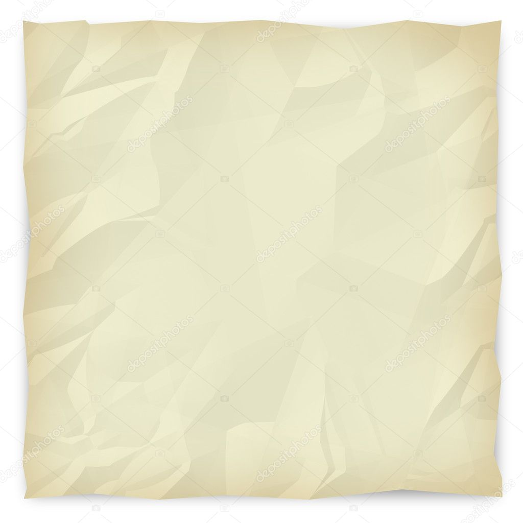 A sepia-toned, wrinkled piece of paper background for slides, brochures and presentations. — Stock Photo #2076976