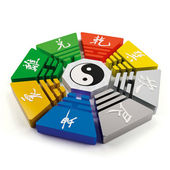 Fengshui geomancy bagua octagon diagram — Stock Photo