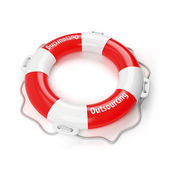 Outsourcing is life buoy for business — Stock Photo