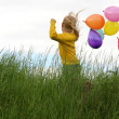 Stock Photo: Children and balloons