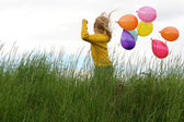 Children and balloons — Stock Photo