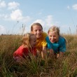 Stock Photo: Children on a meadow