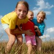 Children on a meadow — Stock Photo #2533330