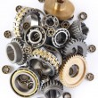 The gears and bearings - Stock Photo