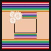 Coloured backdrop with frame — Vetor de Stock