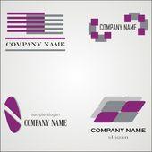 Abstract logo templates — Stock Vector