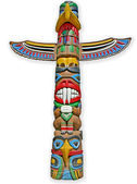 Totem isolated on white background. — Stock Photo