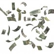 US dollars falling — Stock Photo