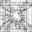 Stock Photo: Abstract wireframe