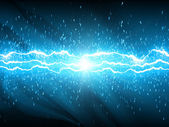 Lightnings on blue aquatic background — Stock Photo