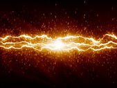 Lightnings on dark background — Stock Photo