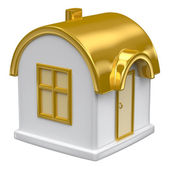 Golden toy house — Stock Photo