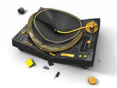 Broken turntable — Stock Photo