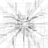 Abstract wireframe — Stock Photo
