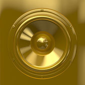 Golden speaker — Stock Photo