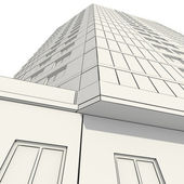 3D construction of office building — Stock Photo
