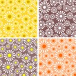 Royalty-Free Stock Photo: Four backgrounds flowers