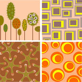 Four backgrounds — Stock Photo