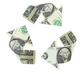 Recykling dolarów — Zdjęcie stockowe