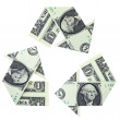 Stock Photo: Recycling Money