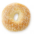 Sesame Seed Bagel, Viewed From Above - Foto Stock