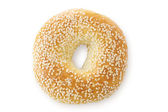 Sesame Seed Bagel, Viewed From Above — ストック写真