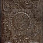 Antique stamped gutta-percha — Stock Photo
