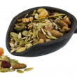 Pile and scoop of healthy trail mix — Stock Photo #2050544
