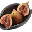 Scoop of fresh Turkish figs - Stock Photo