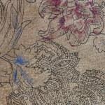 mocka med blommiga mönster — Stockfoto