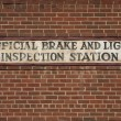 Vintage brake and light inspection sign — Stock Photo