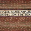 Stock Photo: Vintage brake and light inspection sign