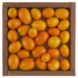 Stock Photo: Kumquats in rustic, wooden box