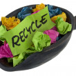 Stock Photo: Recycle - colorful crumbled paper