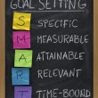 Smart goal setting concept — Stock fotografie