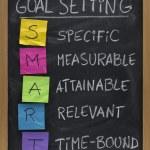 Smart goal setting concept — Stock Photo