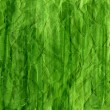 Green crumpled watercolor background — Foto Stock