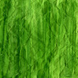 Green crumpled watercolor background — 图库照片