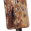 Rusty no parking sign — Stock Photo