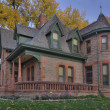 Historical sandstone house in Colorado - Stok fotoğraf