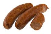 Chorizo Wurst auf weiß — Stockfoto