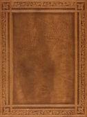 Kahverengi deri kitap kapağı — Stok fotoğraf