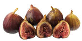 Fresh Turkish figs in a row — Stock Photo