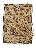 Pile of matches over empty boxes — Stock Photo