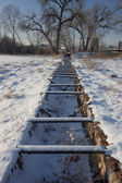 Old abandoned irrigation ditch flume — Stock Photo